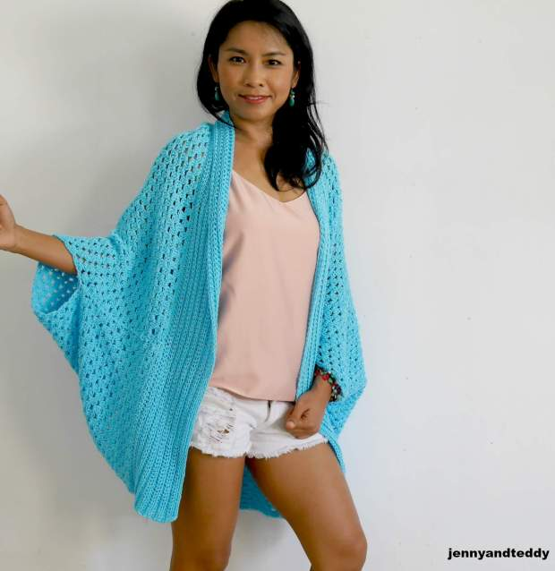 beginner crochet blanket cardigan free pattern