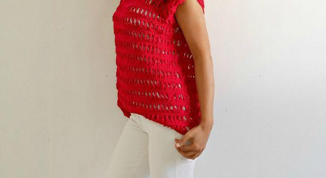 easy crochet summer top free pattern