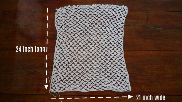 rectangle of cotton summer vest