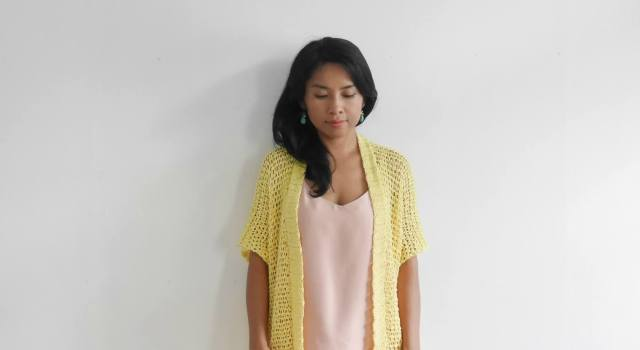 beginner crochet kimono summer cardigan fre pattern tutorail