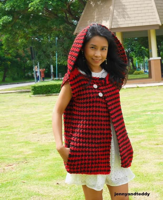 hooded vest cardigan 5 bulky yarn
