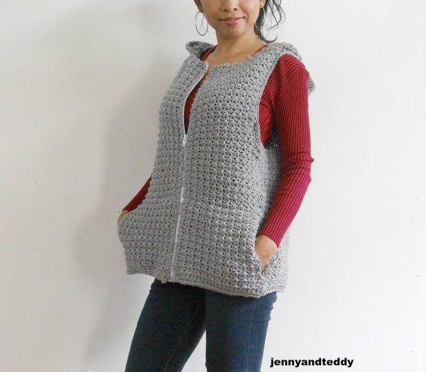 july crochet hooded vest free pattern