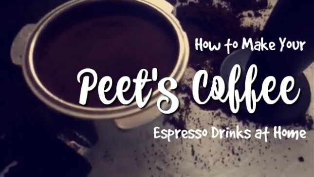 How to Make Peet's Coffee Lattes at Home