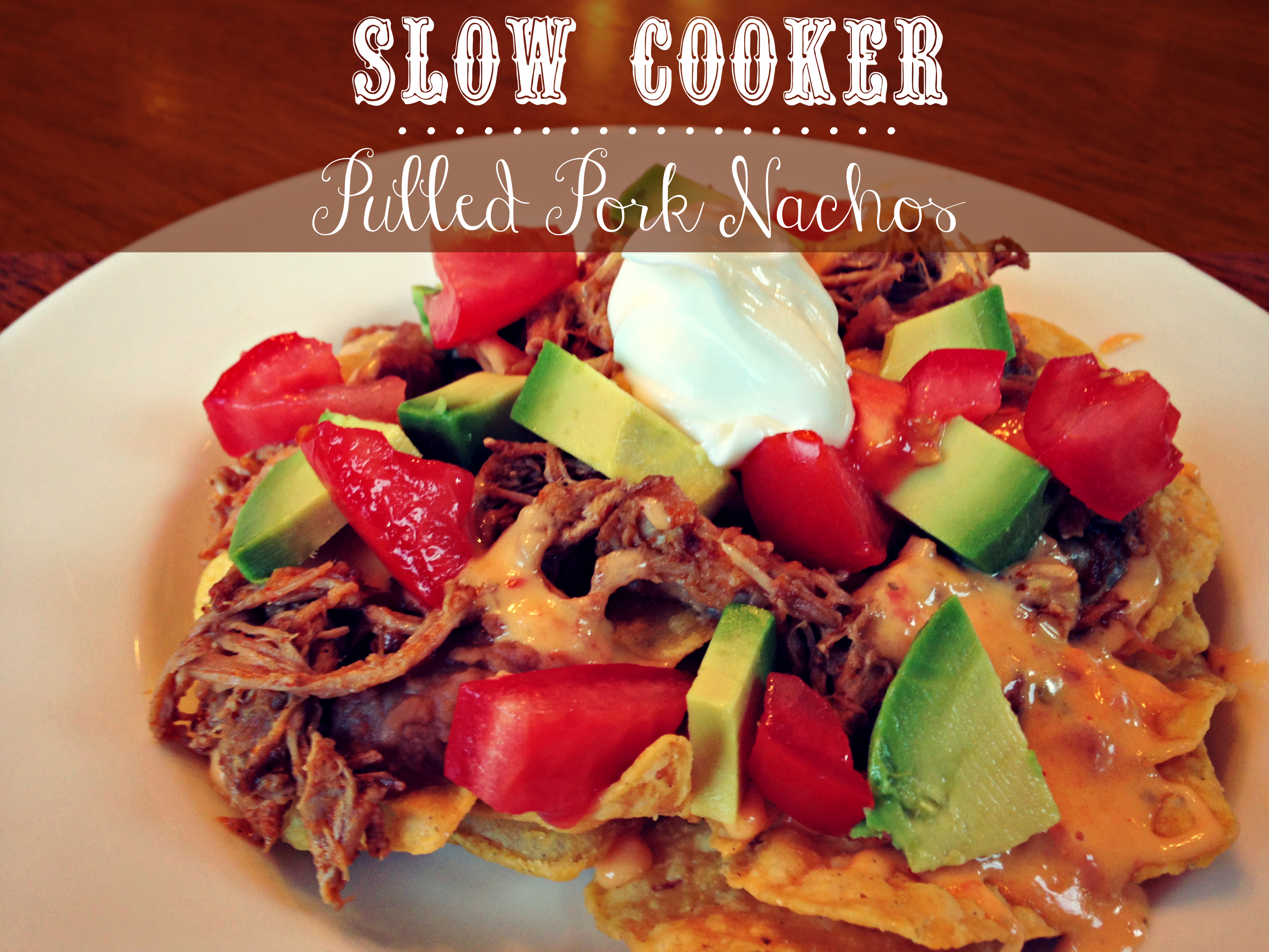 Tailgating with Pork: Slow Cooker Pulled Pork Nachos