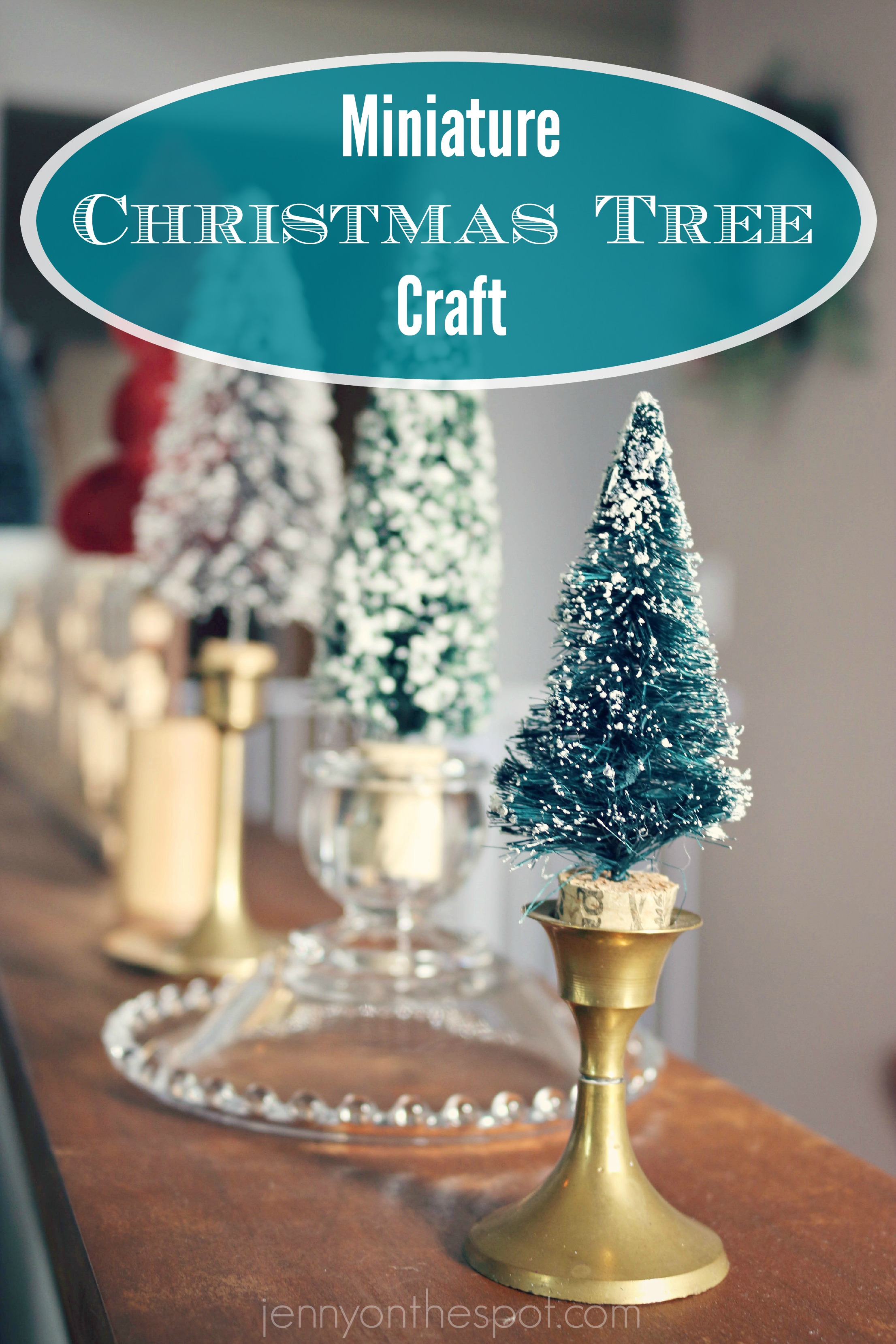 Easy miniature christmas tree craft y 39 all it 39 s for Miniature christmas trees for crafts