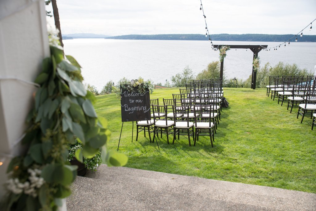 Ceremony, Gig Harbor, Waterfront, Chivari Chairs