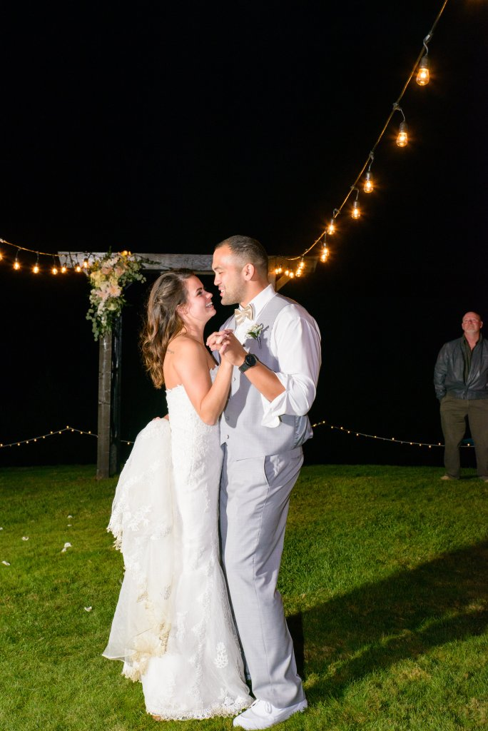 First Dance, Cafe Lights, Gig Harbor Wedding