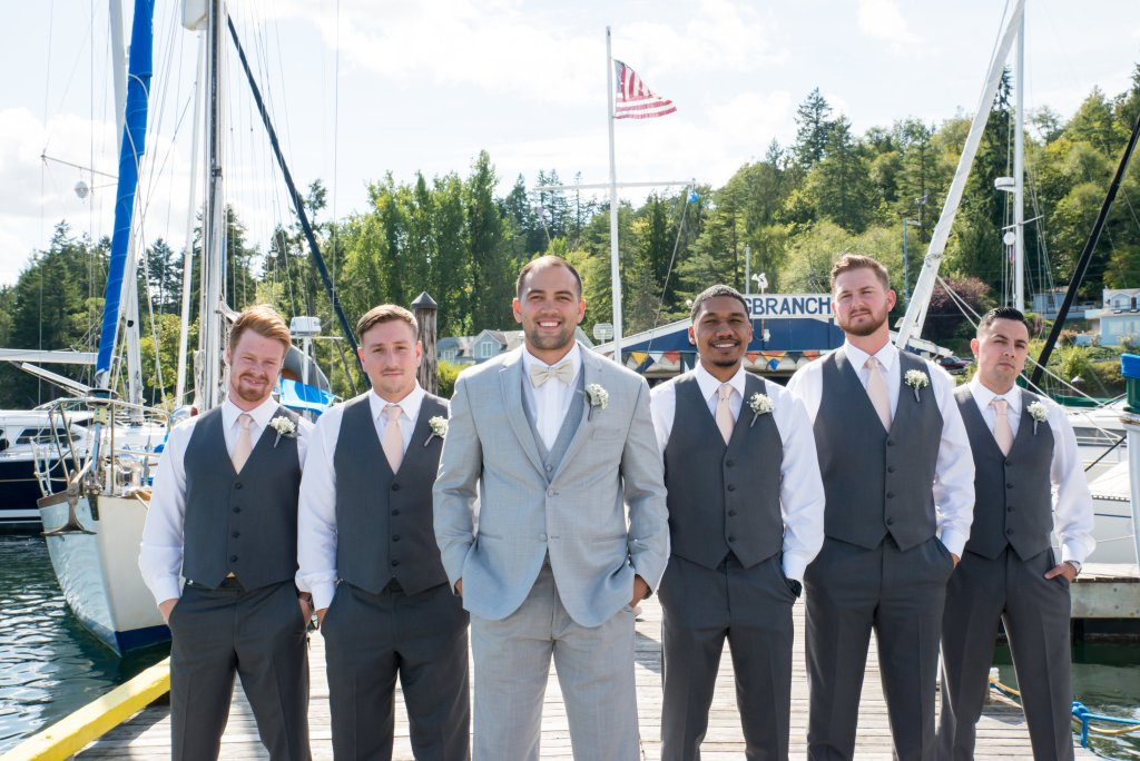Marina, Gig Harbor, Wedding Party Photos