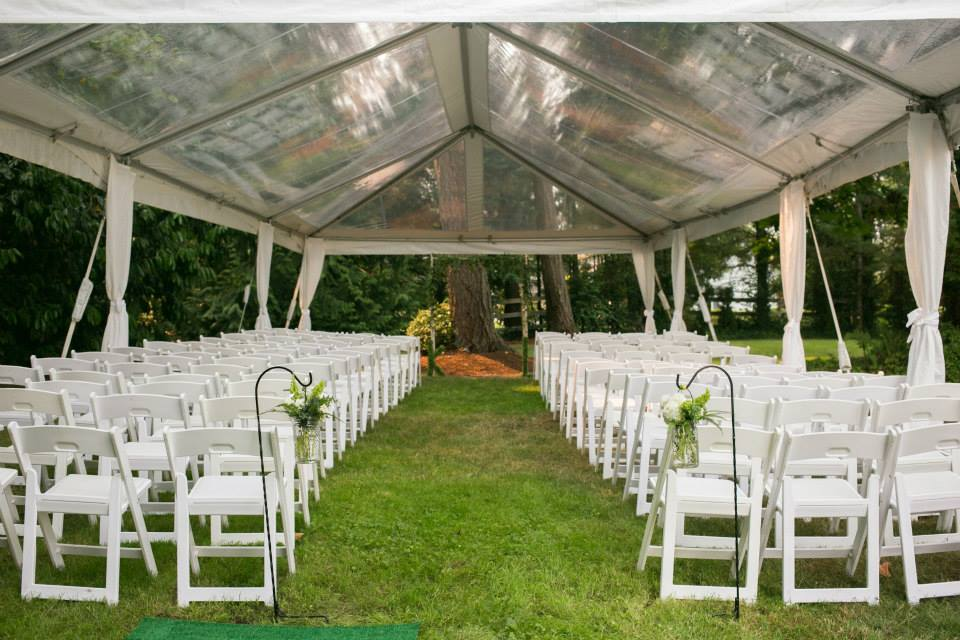 Clear tent, wedding ceremony, Gig Harbor