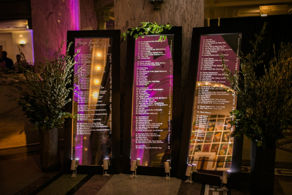 Union Station Wedding || Photo: Genesa Richards Photography ||Escort Mirror Display