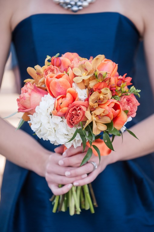 Union Station Tacoma Wedding || Photo: Genesa Richards Photography ||Orange Bouquet: Jen's Blossoms