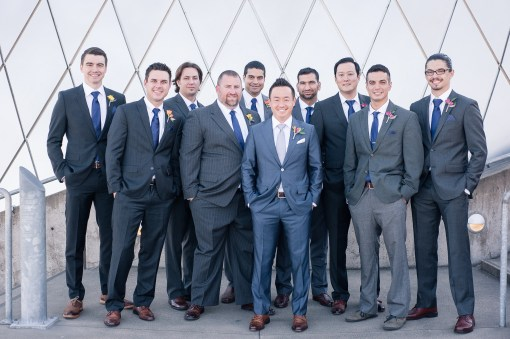Union Station Tacoma Wedding || Photo: Genesa Richards Photography ||Groomsmen