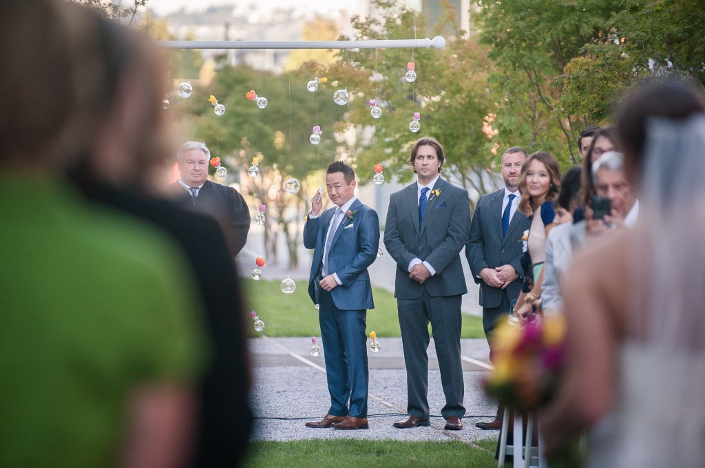 Union Station Tacoma Wedding || Photo: Genesa Richards Photography ||Ceremony, Groom
