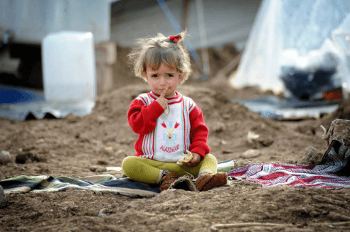 Syrian Child in a Refugee Camp