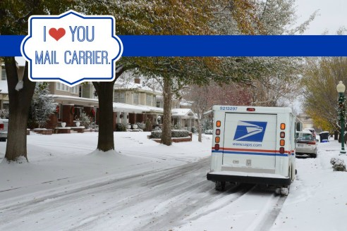 USPS Rain Snow or Shine