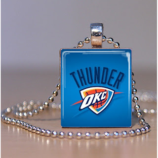 Thunder Scrabble Tile Pendant