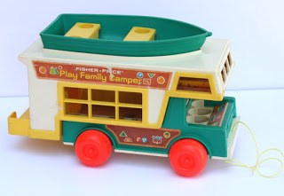Little People Fisher Price Camper and Canoe