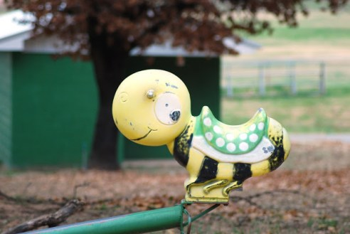 Yellow Spring Rider Bumble Bee Playground Equipment from the 70s