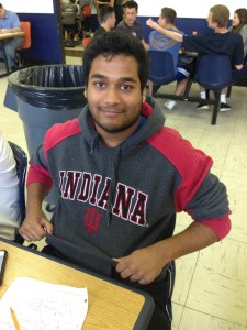 JHS senior Saaior Awon sports his Indiana University apparel.