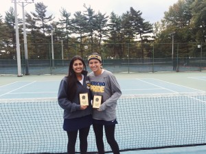 Doubles partners Sam Galu and Jiya Singh made it to states as doubles partners. After only a few weeks of being doubles partners they did an outstanding job under the circumstances.