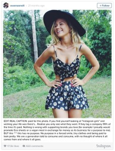 "Essena O'Neill, former Instagram ""celebrity"" edited captions on old photos to reveal what she felt she should have been really saying."