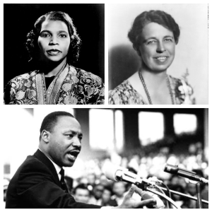 Marian Anderson (top left), Eleanor Roosevelt (top right), and Martin Luther King Jr. (center) will go on the back of the redesigned $10 bill.