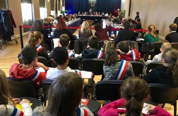 Conseil Municipal en présence du 3ème Conseil Municipal des Jeunes Grassois