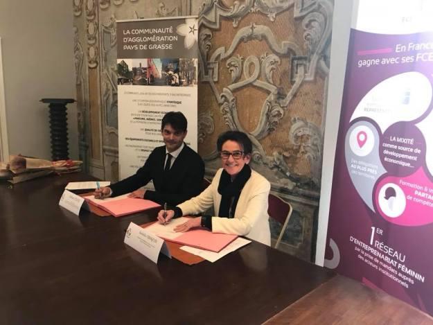 Signature d'une convention de partenariat entre la CAPG et la FCE de Cannes Cote d'Azur 02