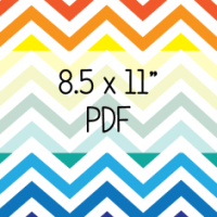 Freebie Friday: Mega Chevron Edition