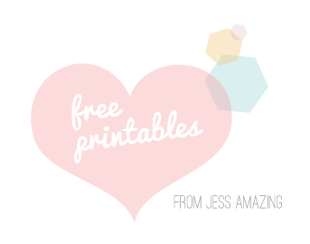 free printables from Jess Amazing xoxo