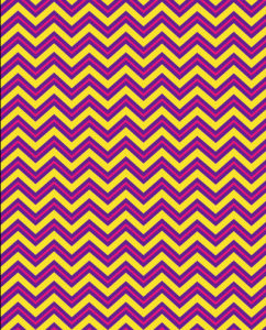 purple yellow pink chevron