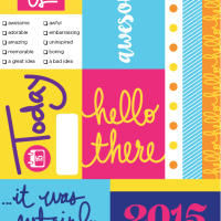 Freebie Friday... colorful cut apart cards