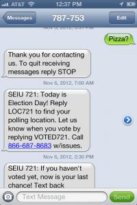 SEIU 721 texting