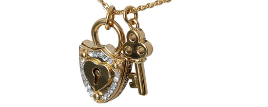 key and locket jewellery
