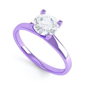 Purple Gold Engagement Ring