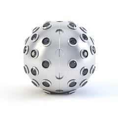 Black Matte sphere trinket