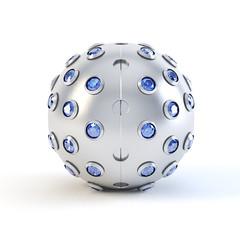 Blue Matte sphere pendant