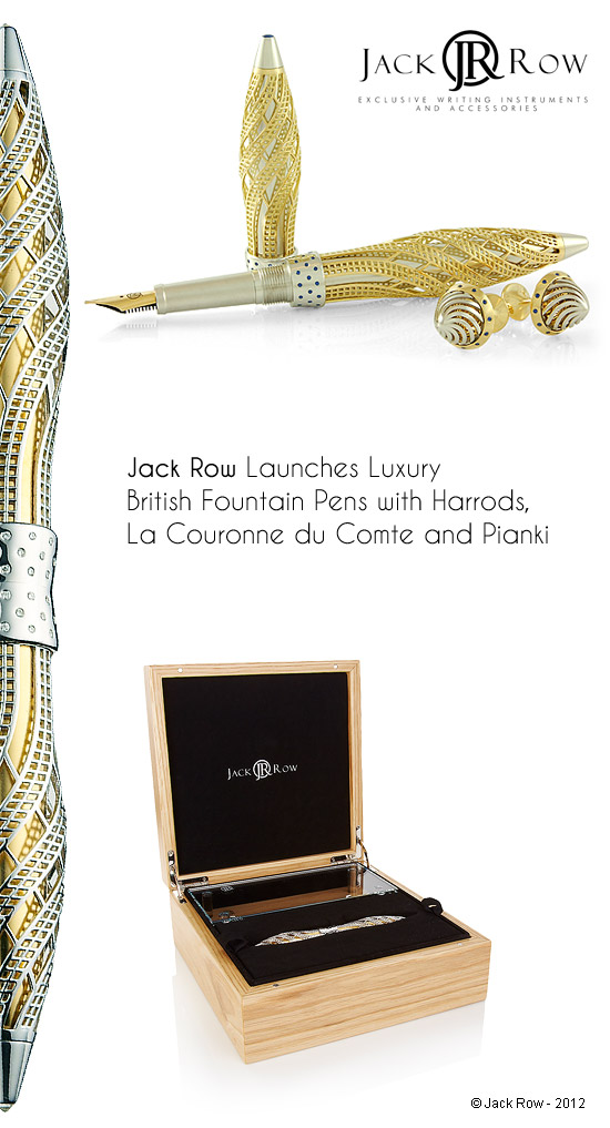 Luxury British fountain pens by Jack Row