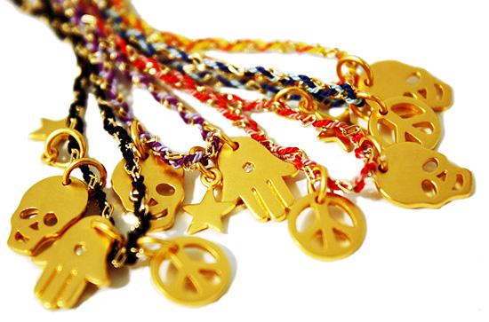 Gold and Silk Friendship Bracelet