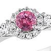 half carat pink diamond ring