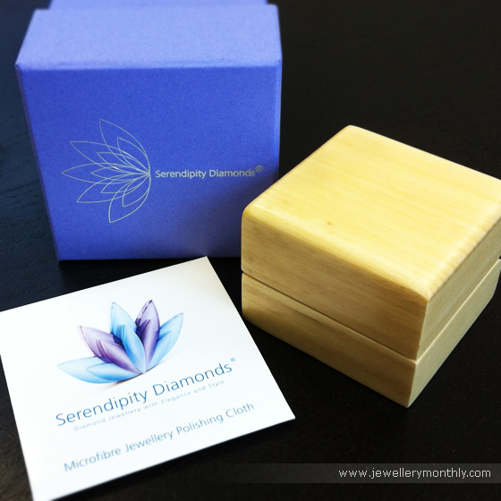 Engagement ring box and packaging by Serendipity Diamonds