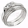 Shaped Diamond Set Wedding Ring Knife Edge Platinum