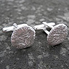 platinum cushion cufflinks