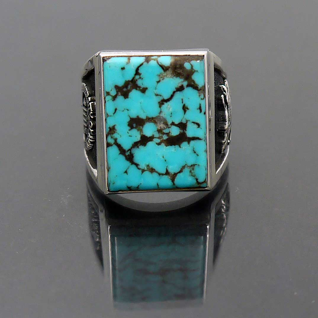 sterling silver turquoise class ring new mexico jewelsmith