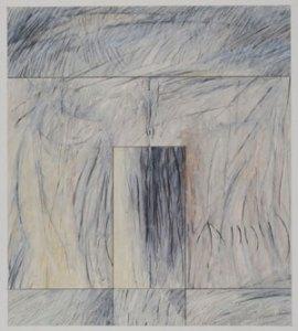 """Akedah #51 (2008-2009) Mixed media on paper 9"""" x 8"""" by Robert Kirschbaum Courtesy the artist."""