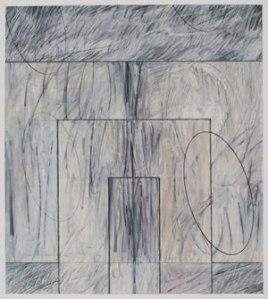 """Akedah #52 (2008-2009) Mixed media on paper 9"""" x 8"""" by Robert Kirschbaum Courtesy the artist."""