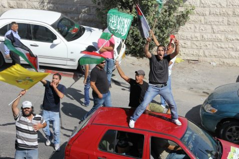 Arabs Celebrating Prisoner Release in Eastern Jerusalem, October 18 2011