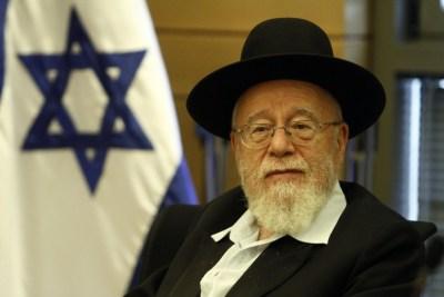 Rabbi Dov Lior, former Chief Rabbi of Hebron and Kiryat Arba.