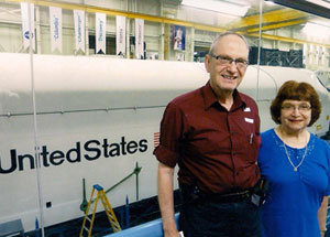 Dov and Barbara Gilor at the Houston Space Center.