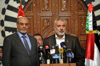 Haniya arrived in Tunis today on the next leg of a six-country.